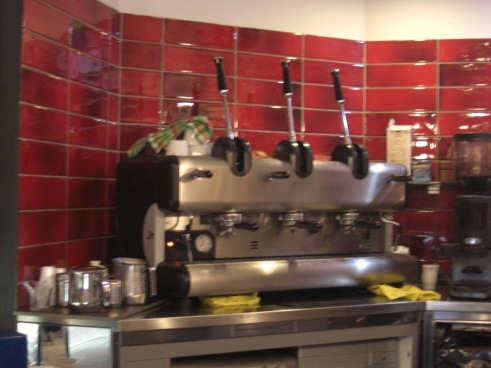 Coffee machine in Bar in Salerno, Italy