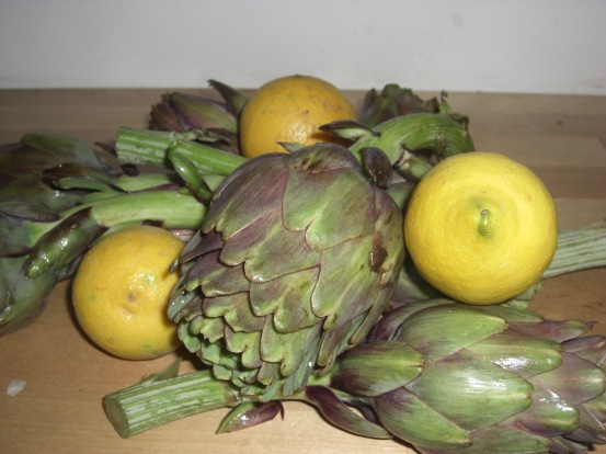 Artichokes and lemons
