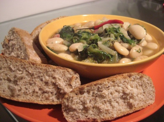 Spicy Endive and Bean Soup