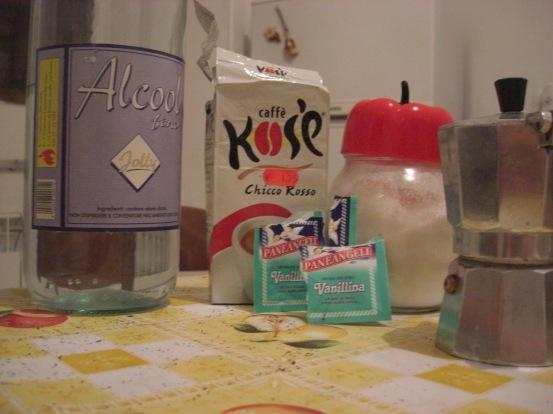 Coffee liqueur ingredients