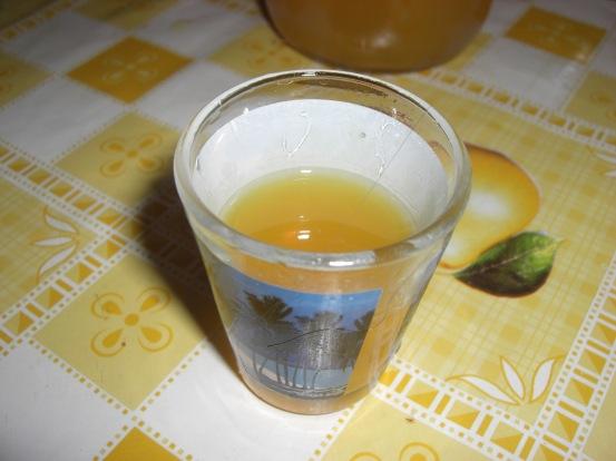 Glass of mandarinetto