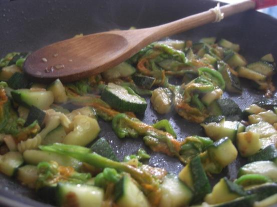 zucchini and zucchini blossom