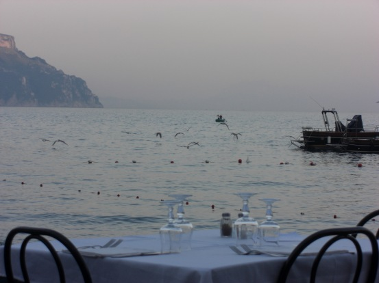 Sea view dinner
