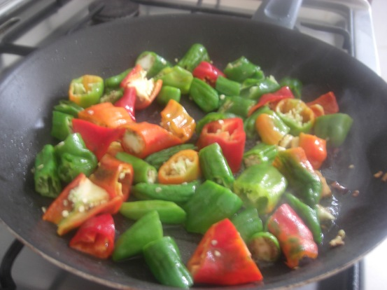 cooking sweet peppers